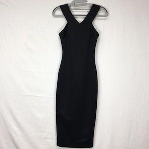 Ted Baker Black Vadena Crossback Midi Dress